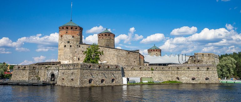 Olavinlinna castle in Finland, Europe