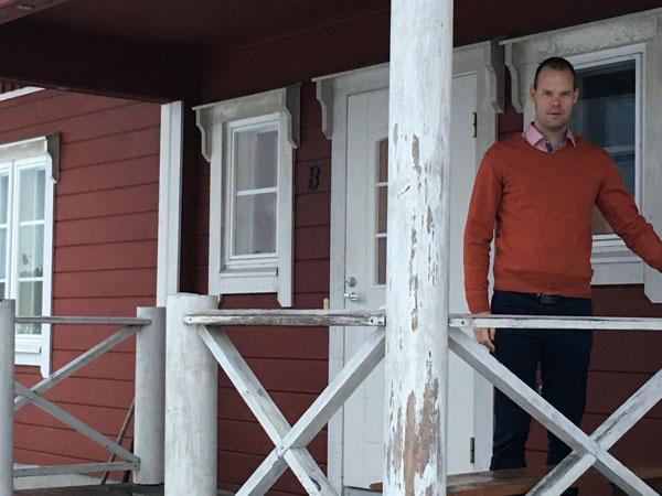 Järjestöreissaaja Mikko Vainio Hostel Lomakivessä Iiitissä