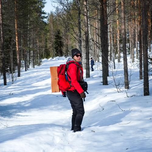 Hostellijärjestön järjestöreissaajat Metsäkartanossa Rautavaaralla