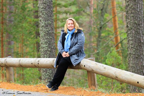 Hostellijärjestön järjestöreissaaja Heidi Punkaharjulla ja Hostel Mannilassa