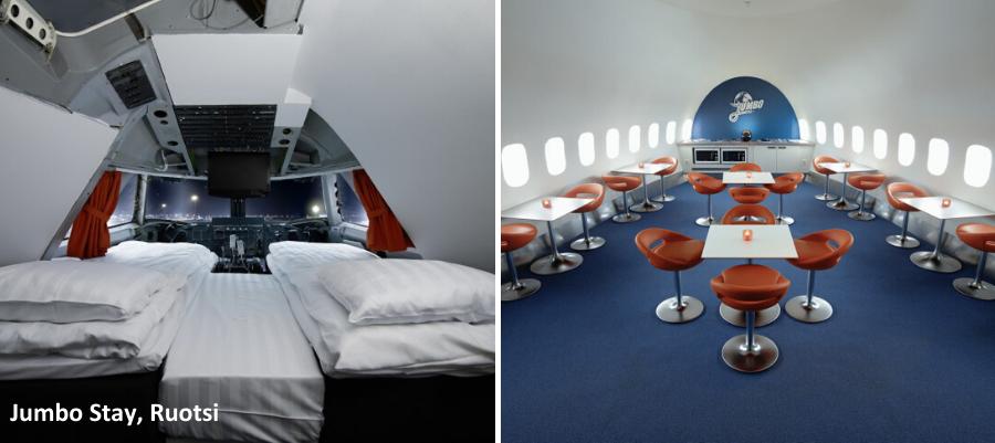 Mielenkiintoisimmat hostellit, huonekuva Jumbo Stay, Ruotsi