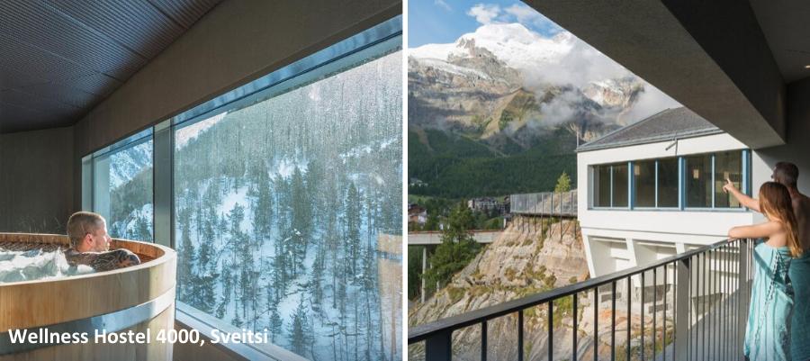 Ulkokuva Wellness Hostel 4000, Sveitsi