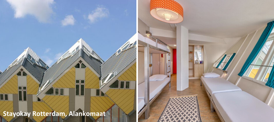 Mielenkiintoisimmat hostellit, huonekuva Stayokay Rotterdam Cube Houses, Alankomaat
