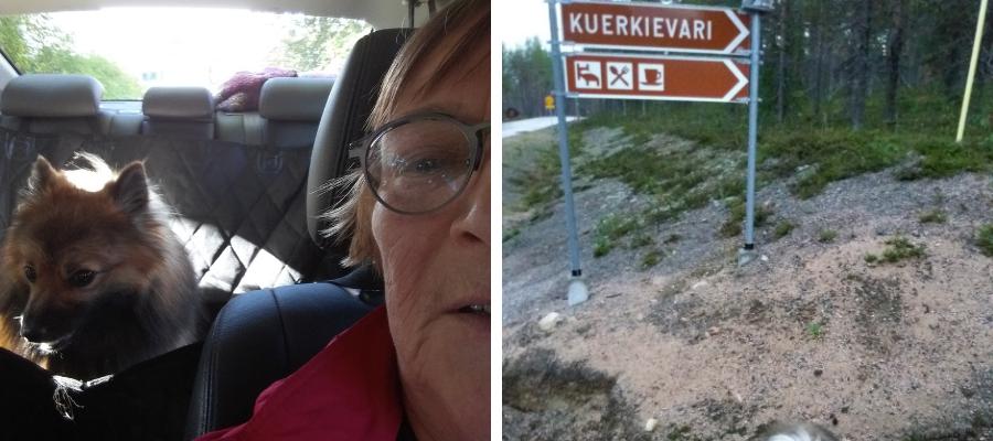 Hostellijärjestön Hostellireissaaja Anja Pulkkinen Ylläksellä ja Kuerkievarissa