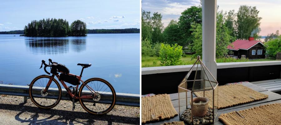 Pyöräilijät Hostelli Rantapappila, kuvat Meeri Kukkola