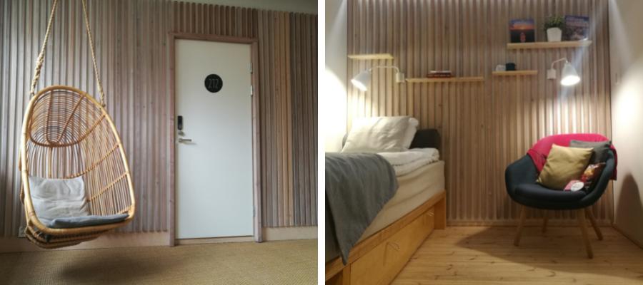Dream Hostel & Hotellin skandinaavinen sisustus